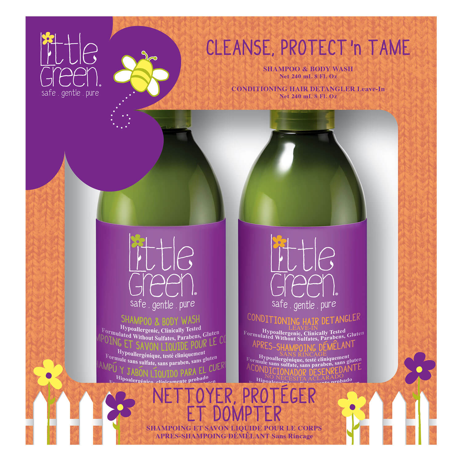 Little Green Kids - Cleanse Protect'n Tame Duo