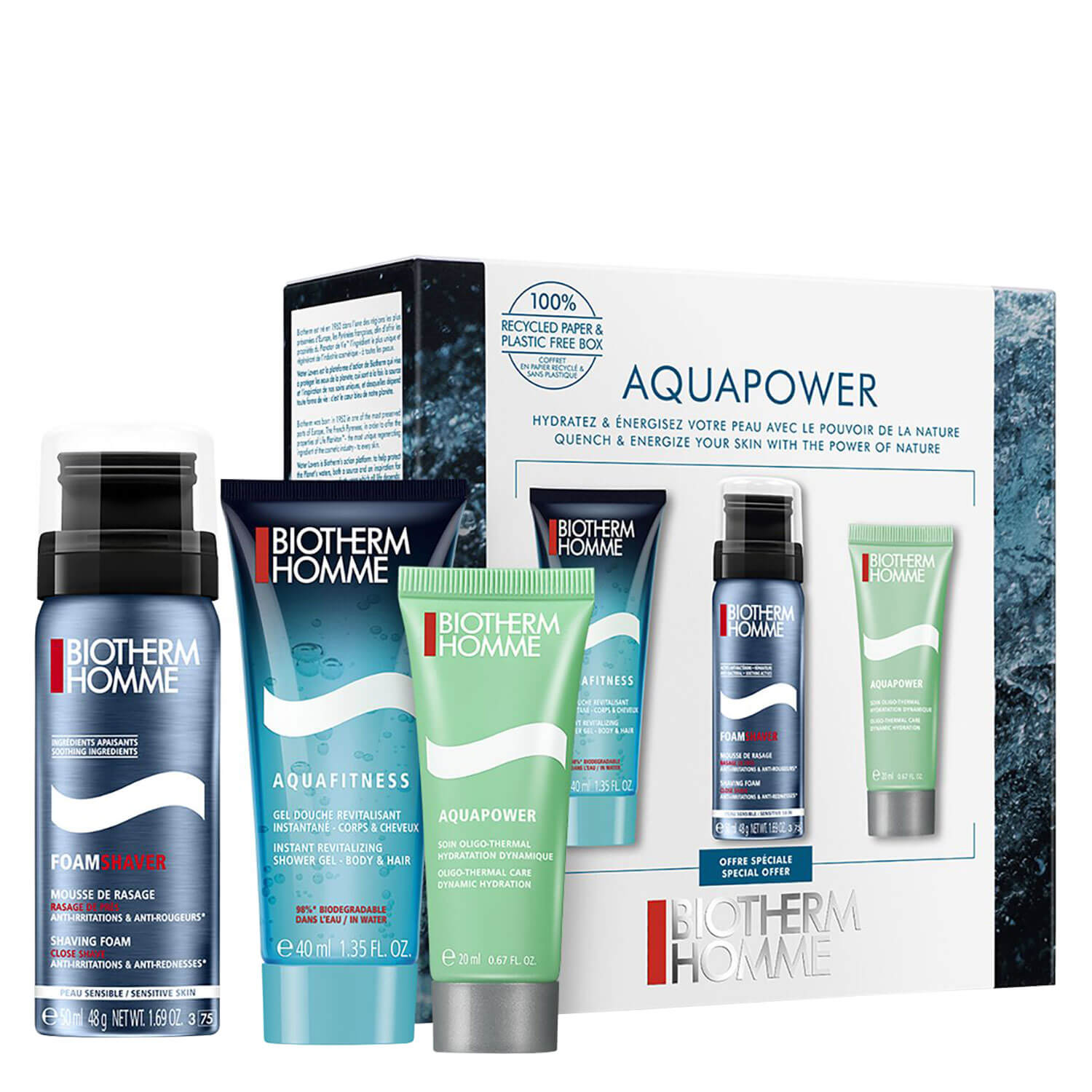 Biotherm Homme - Aquapower Trio Kit