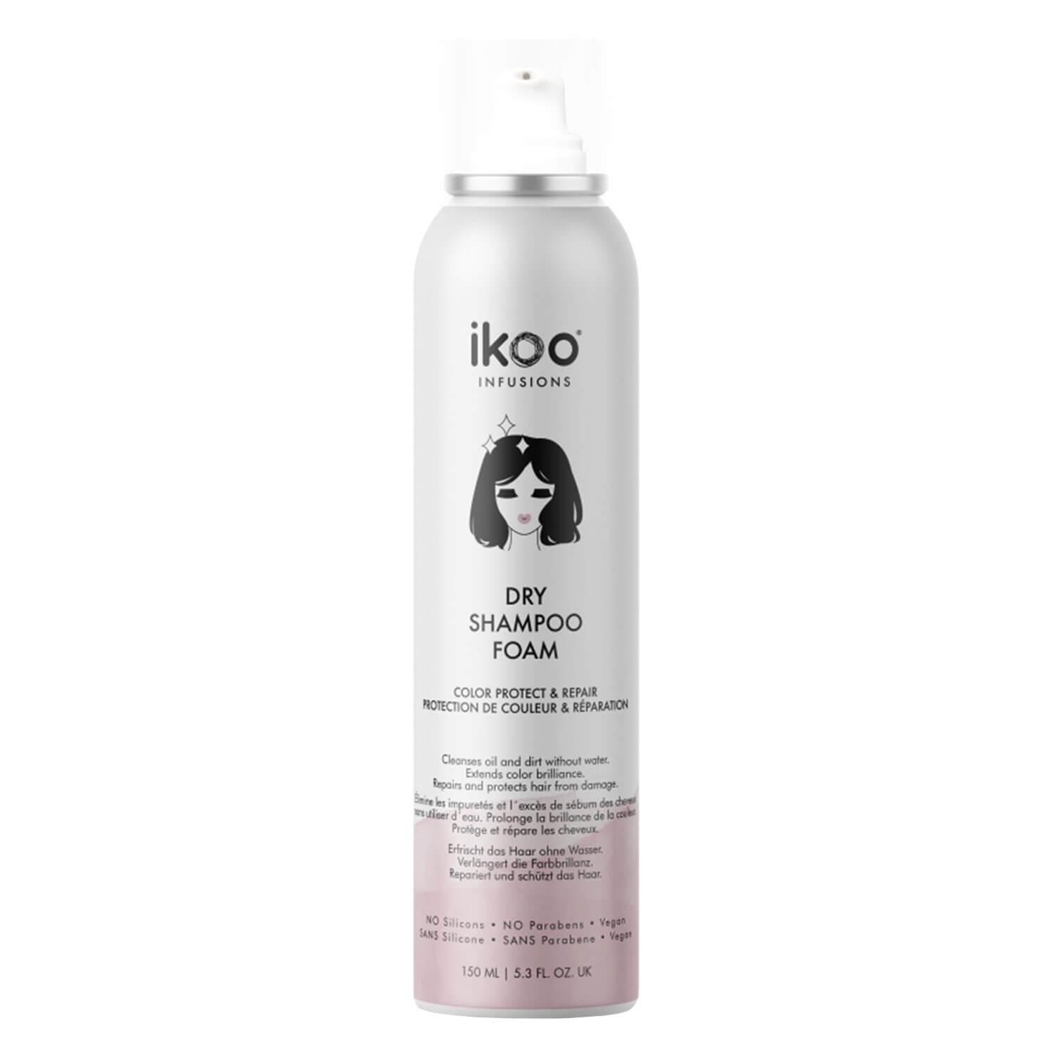 ikoo infusions - Dry Shampoo Foam Color Protect & Repair