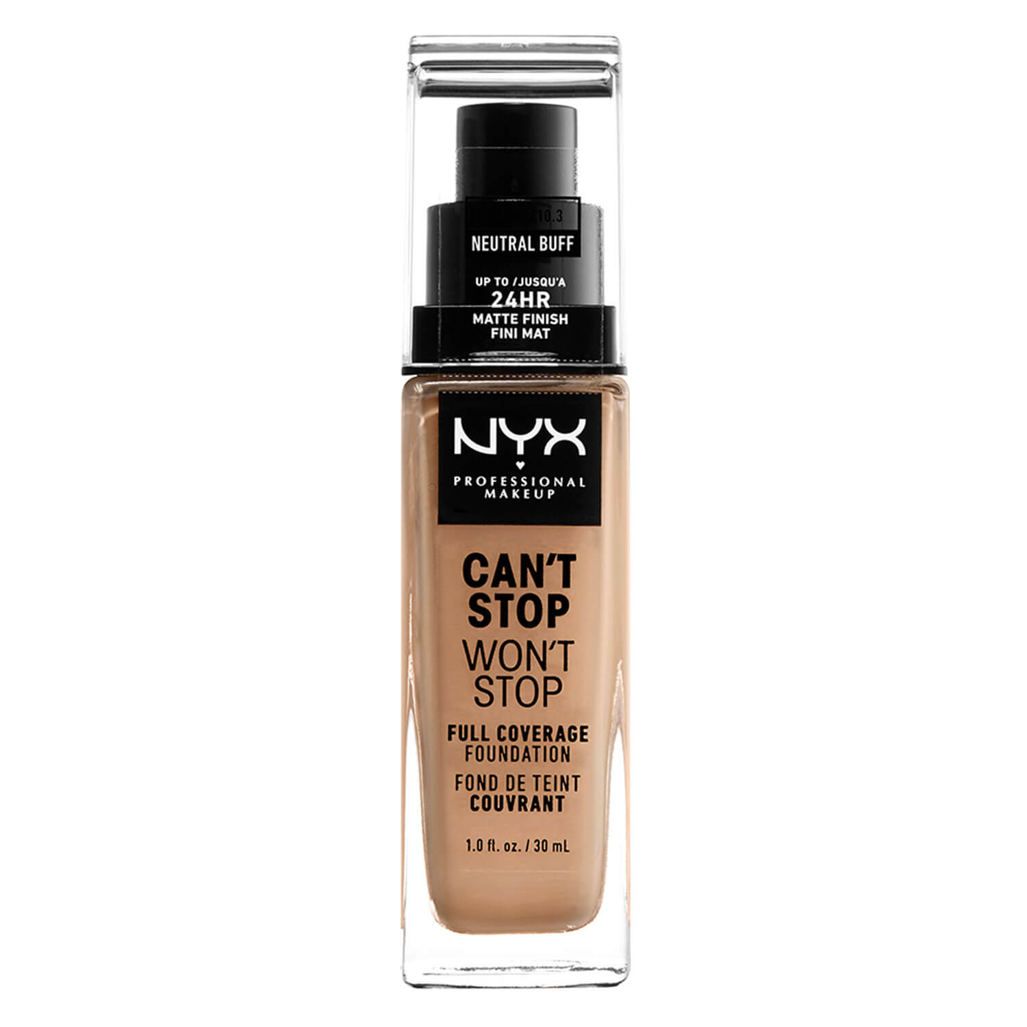 Can't Stop Won't Stop - Full Coverage Foundation Natural Buff