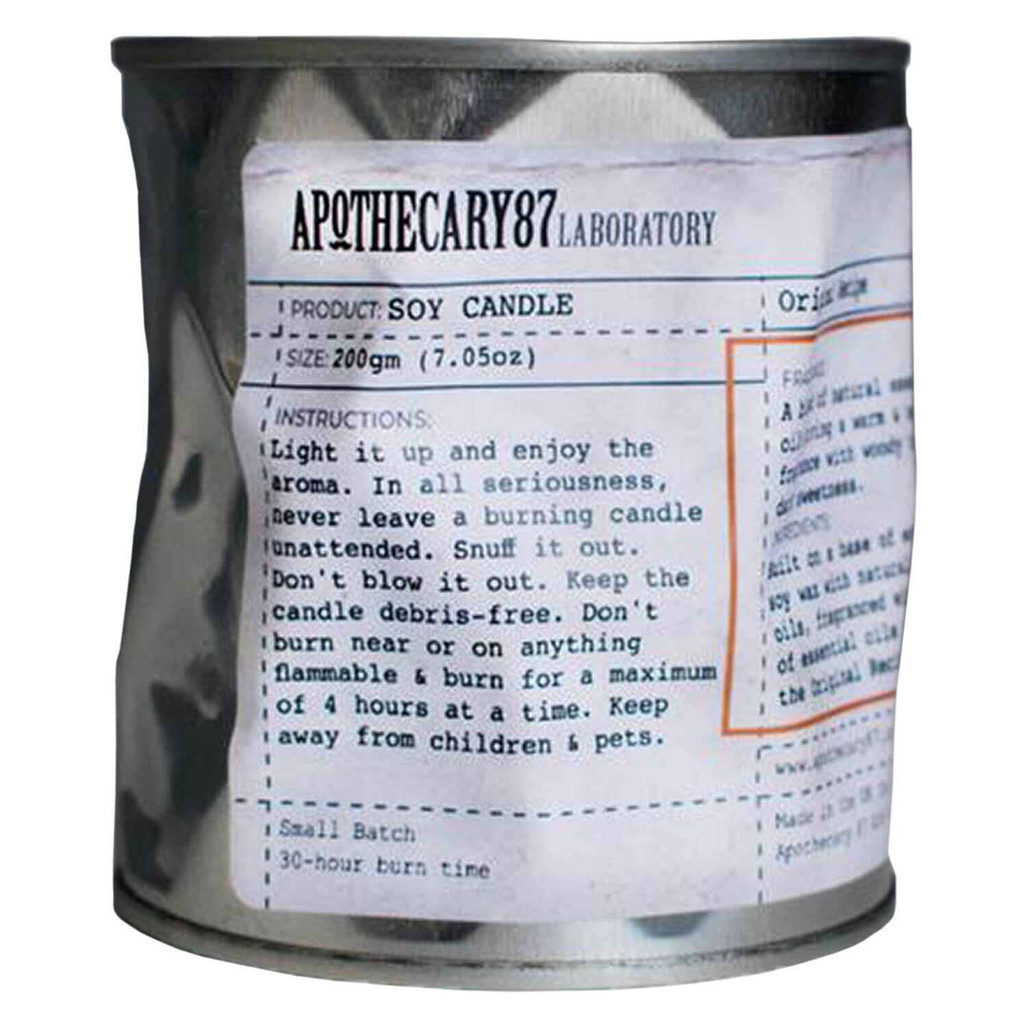 Apothecary87 Grooming - Soy Candle Original Recipe