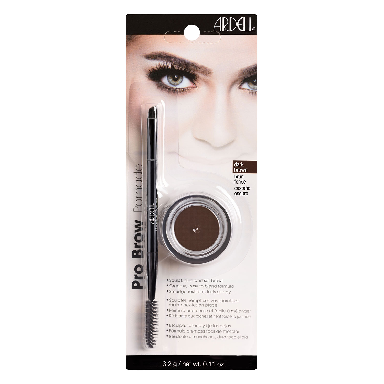 Ardell Brows - Brow Pomade/Brush Dark Brown