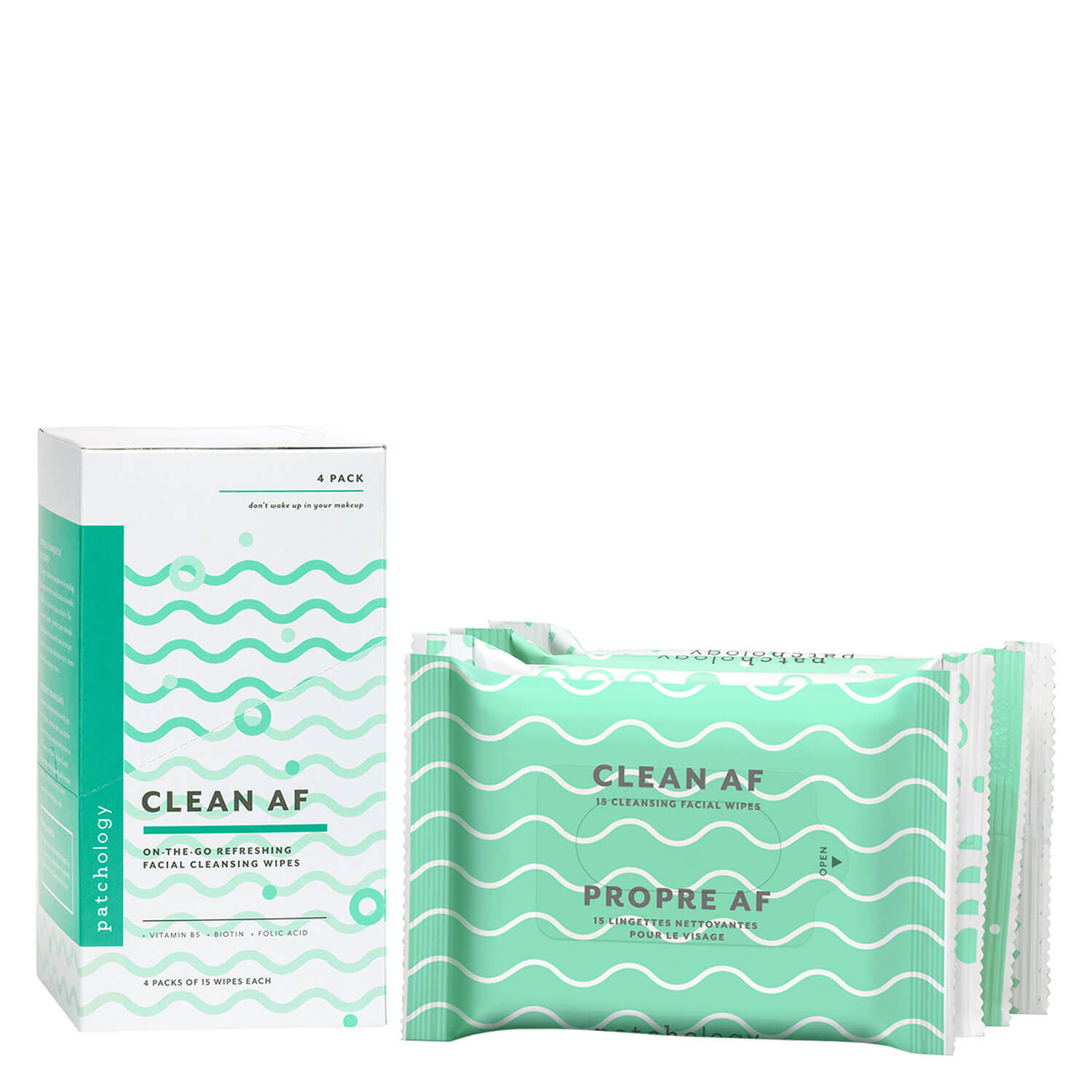 Daily Essentials - Clean AF Facial Cleansing Wipes