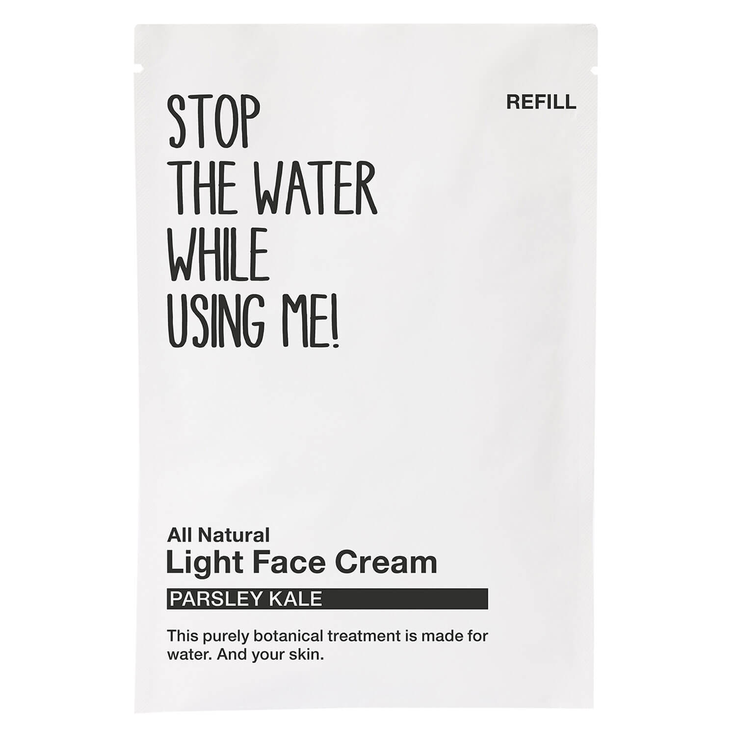 All Natural Face - Refill Light Face Cream Parsley Kale