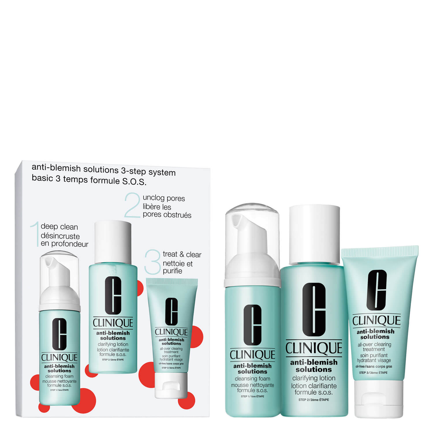 Anti-Blemish Solutions - 3 Step System Set
