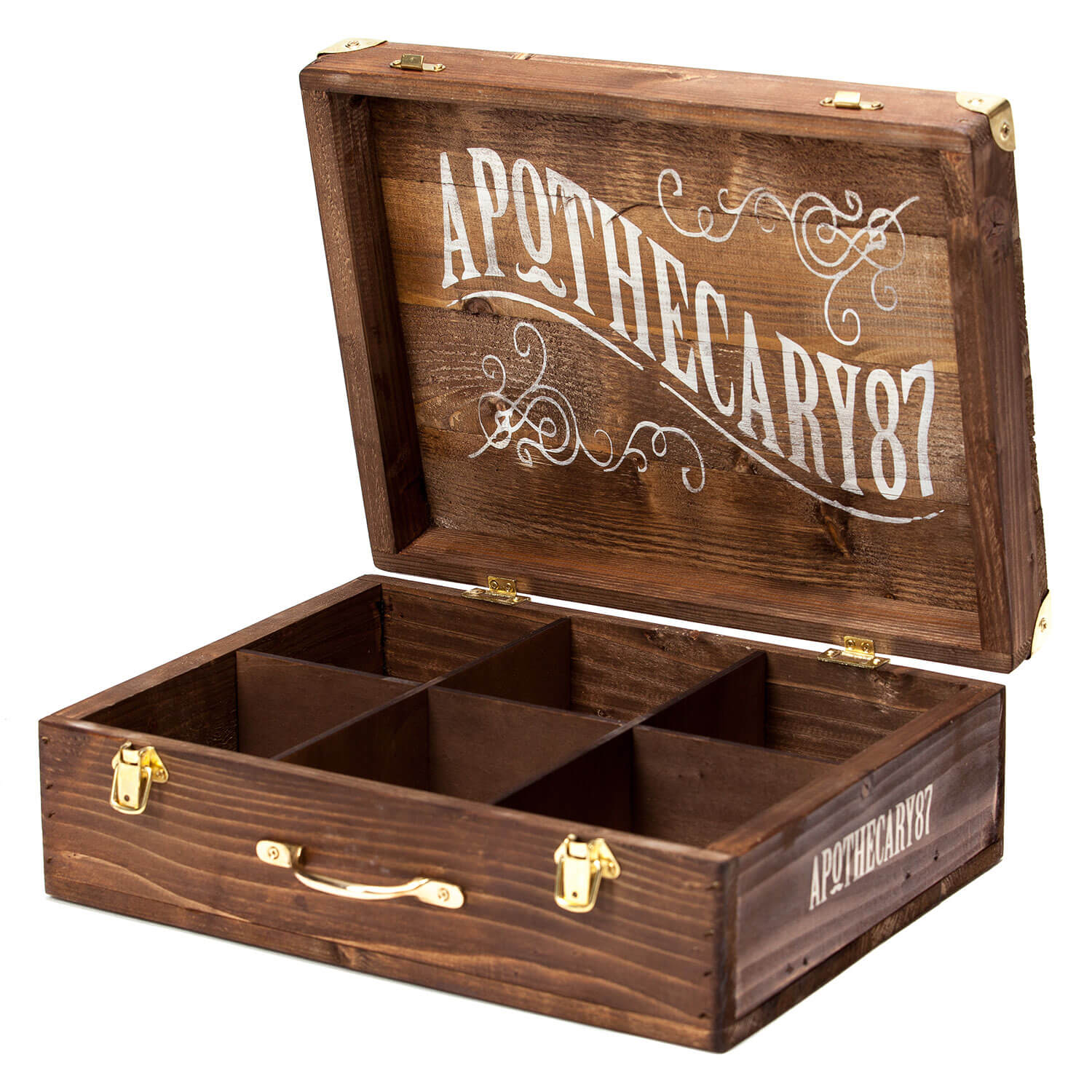 Apothecary87 Grooming - Wooden Briefcase Display