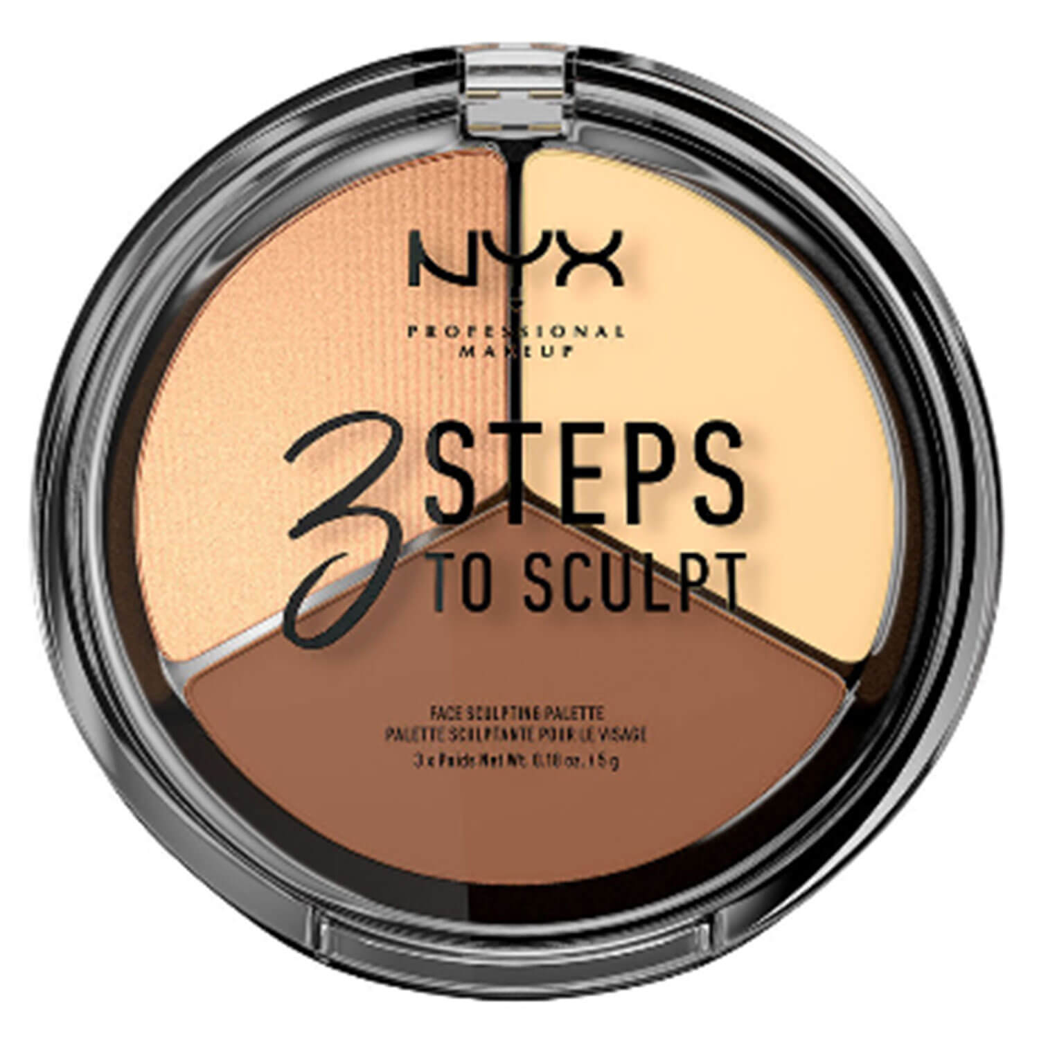 3 Steps to Sculpt - Face Sculpting Palette Light