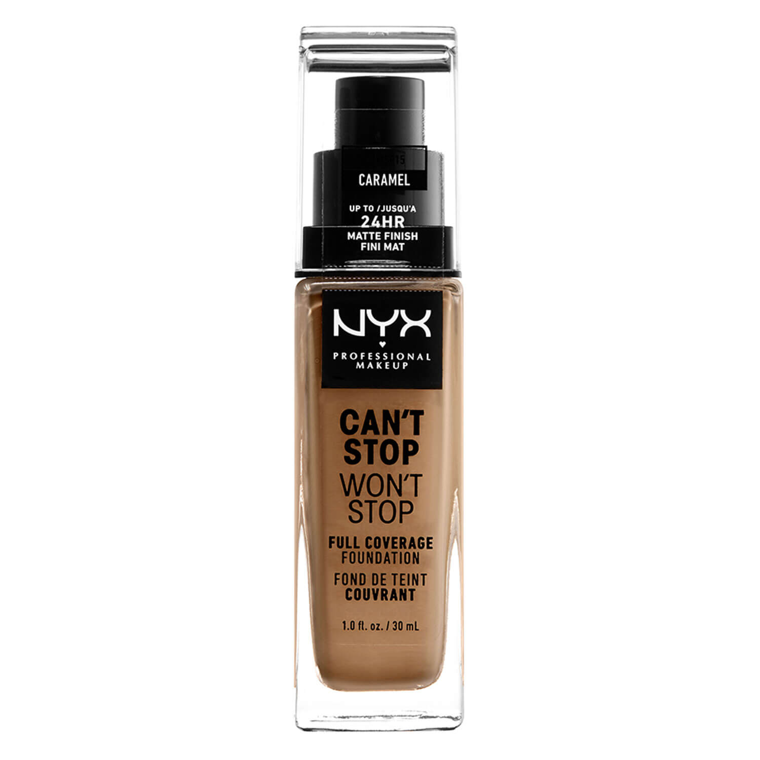 Can't Stop Won't Stop - Full Coverage Foundation Caramel