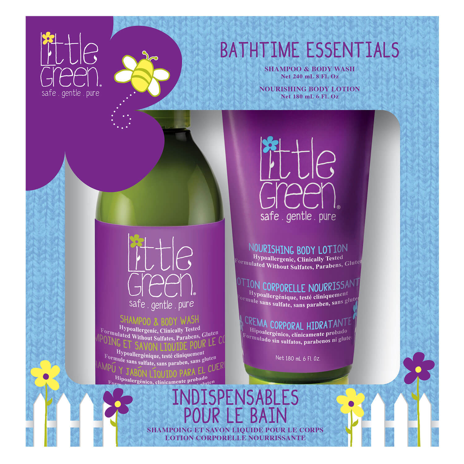 Little Green Kids - Bathtime Essentials Duo