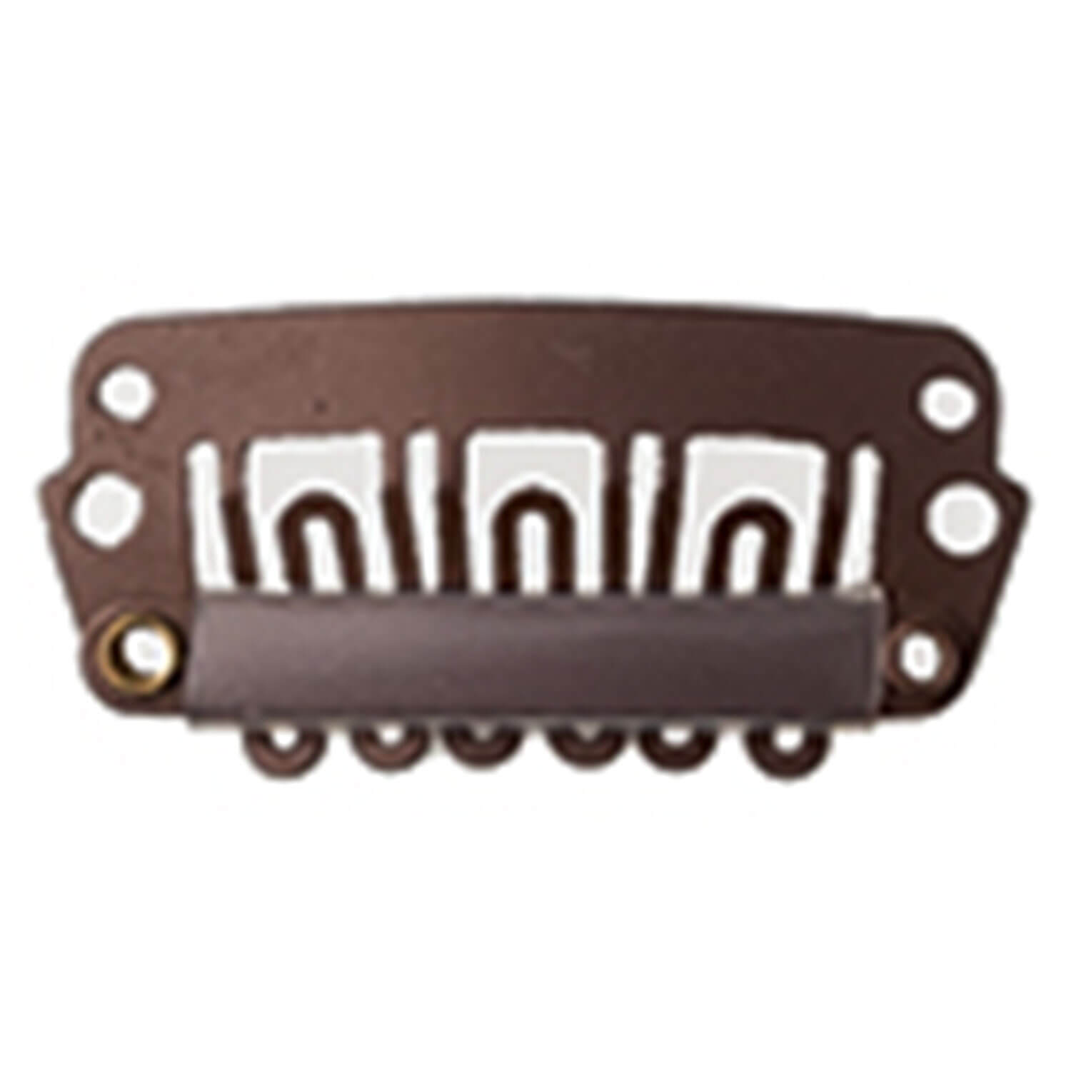 SHE Clip In-System Hair Extensions - Clips Dunkelbraun/M