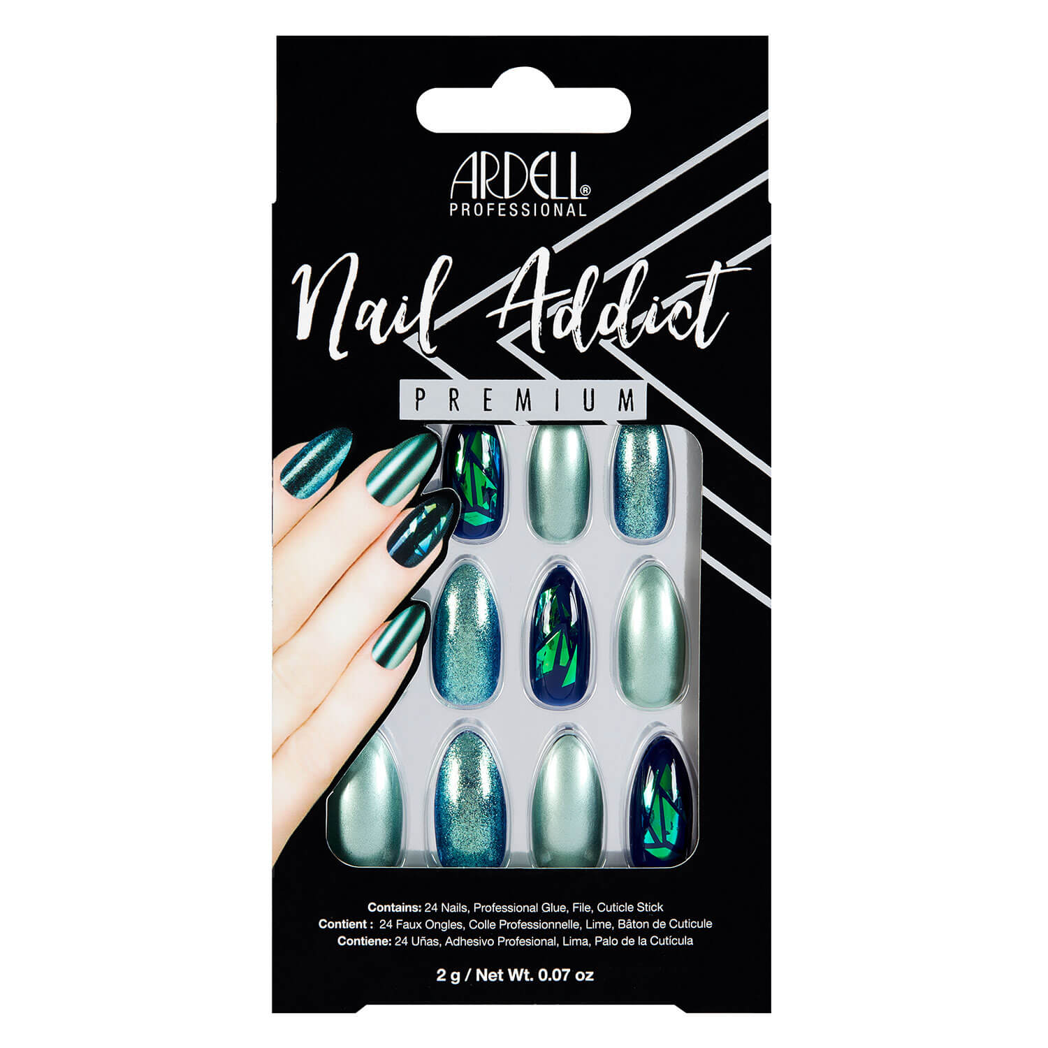 Nail Addict - Nail Addict Green Glitter Chrome