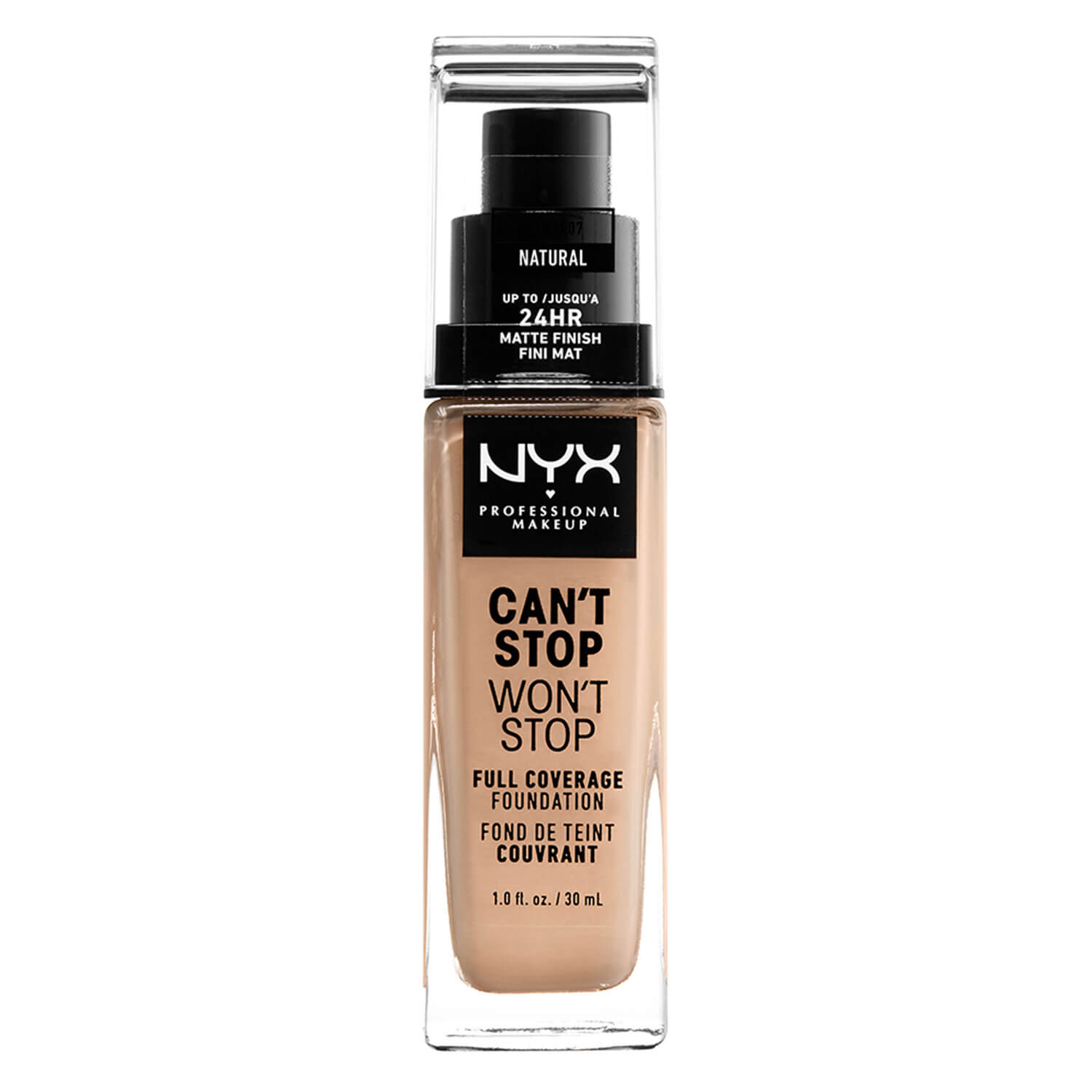 Can't Stop Won't Stop - Full Coverage Foundation Natural