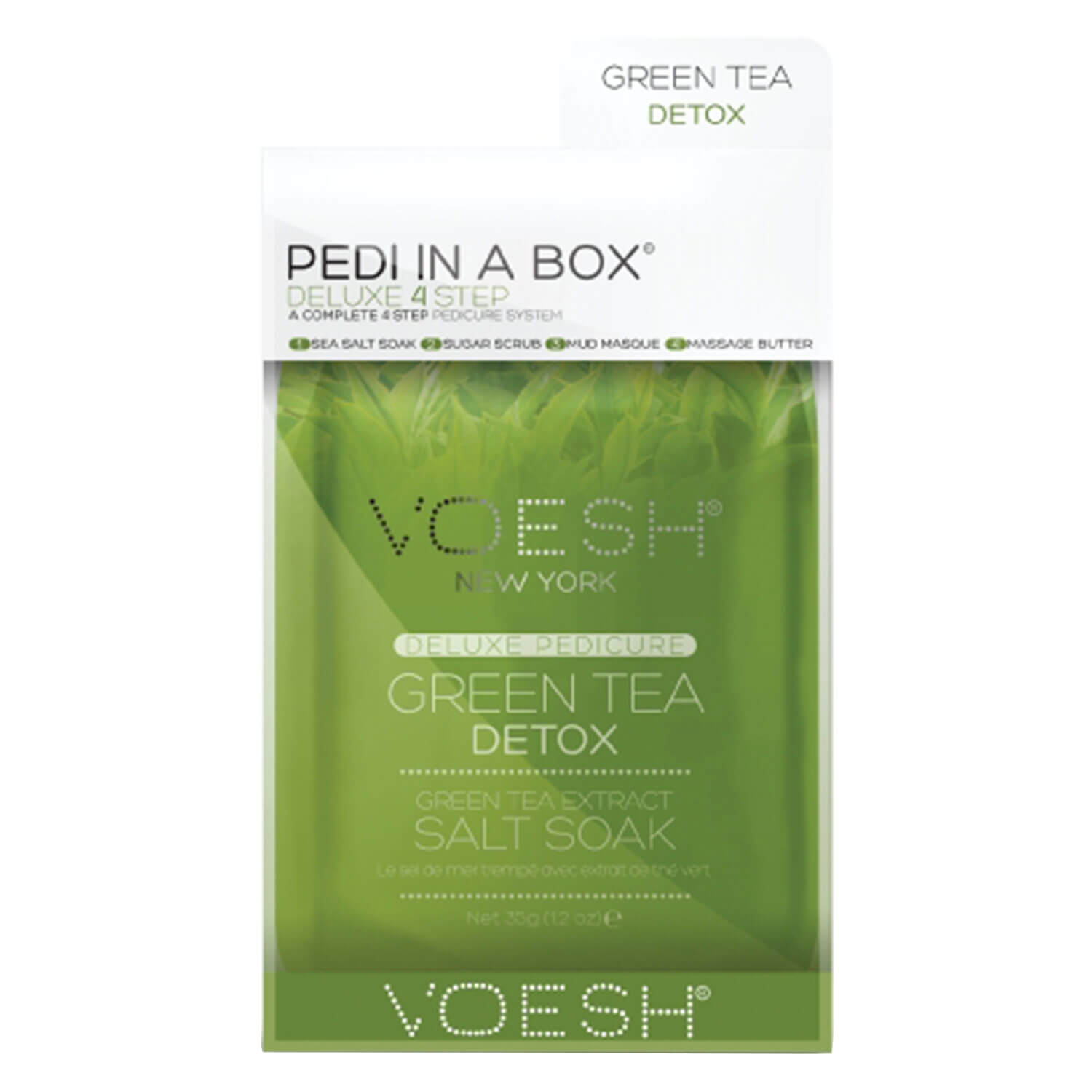 VOESH New York - Pedi In A Box Deluxe 4 Step Green Tea