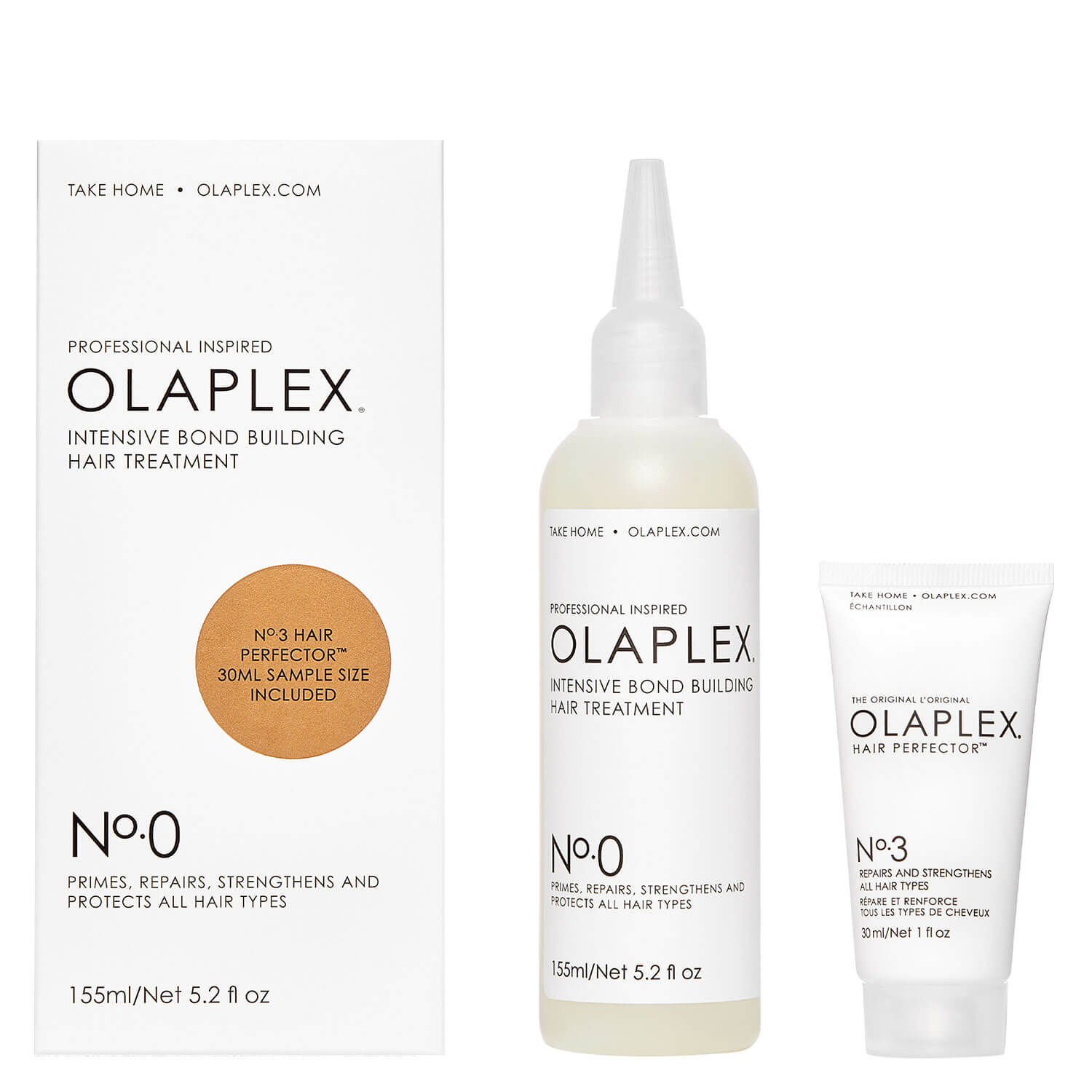 Olaplex - Intensive Bond Building Hair Treatment No. 0 + No. 3 For Free