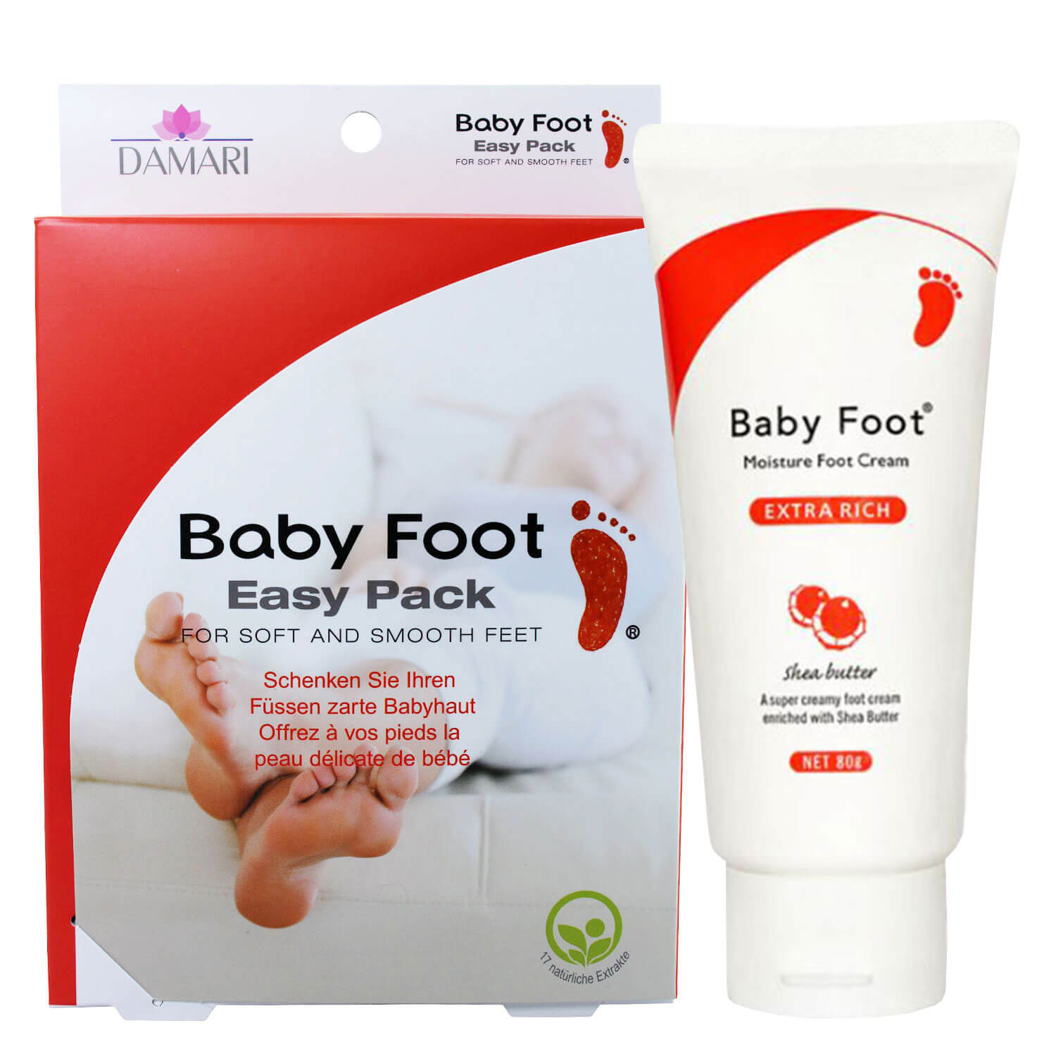 Baby Foot - Easy Pack & Extra Rich Cream Set