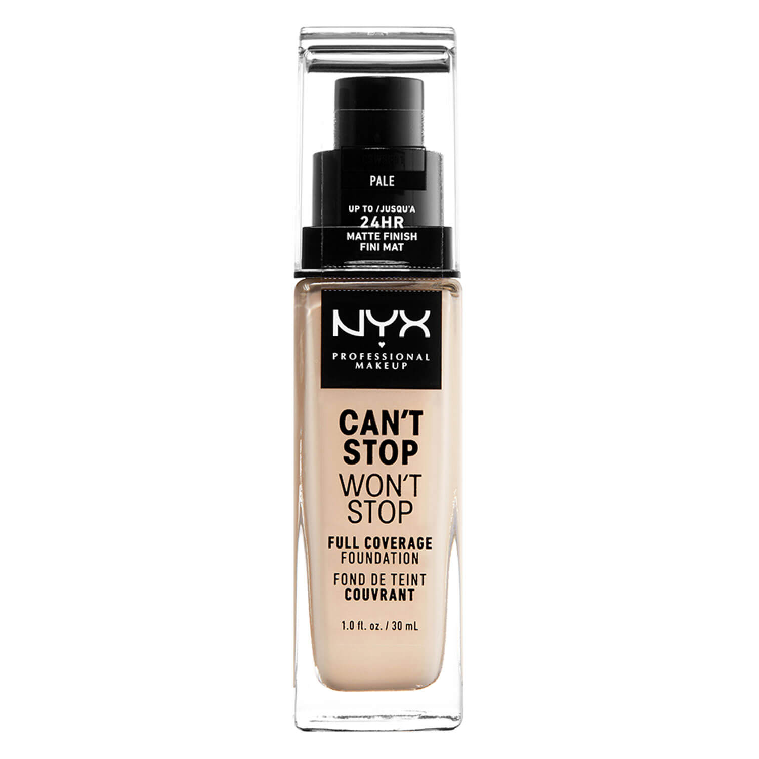 Can't Stop Won't Stop - Full Coverage Foundation Pale