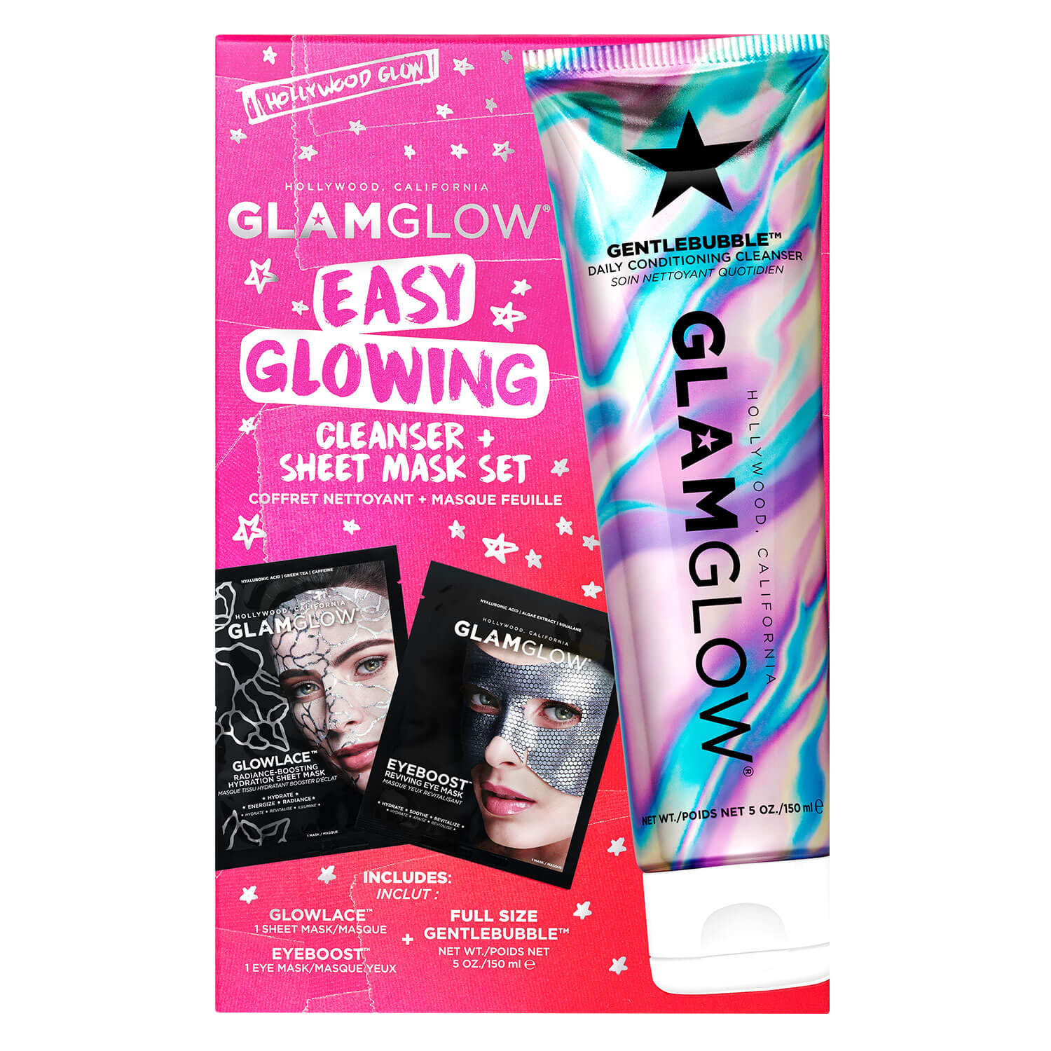 GlamGlow Special - Easy Glowing Cleanser & Sheet Mask Set