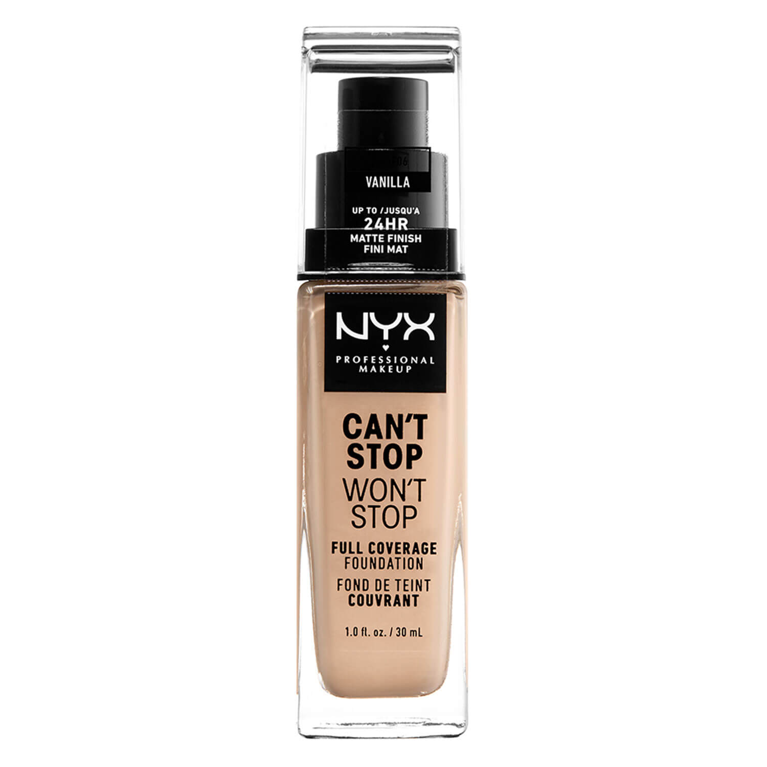 Can't Stop Won't Stop - Full Coverage Foundation Vanilla